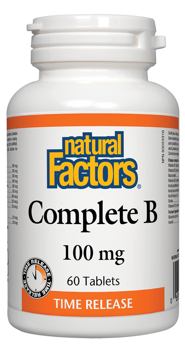 Natural Factors Complete B 100mg 60 tablets | YourGoodHealth