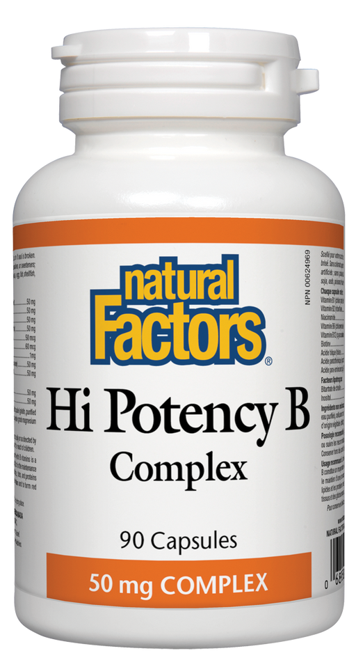 Natural Factors Hi Potency B Complex 90 capsules | YourGoodHealth