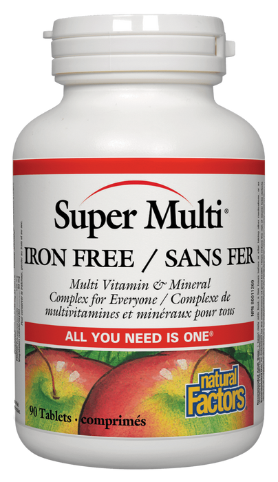 Natural Factors Super Multi Iron Free | Your Good Health