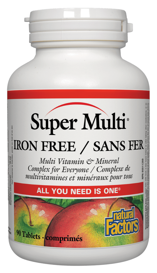 Natural Factors Super Multi Iron Free|Your Good Health