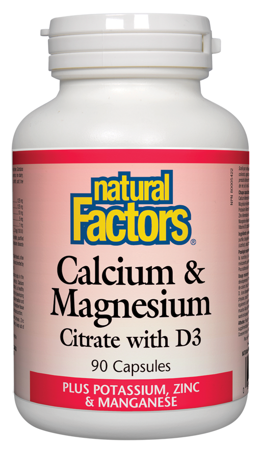 Natural Factors Calcium Magnesium 90caps | YourGoodHealth