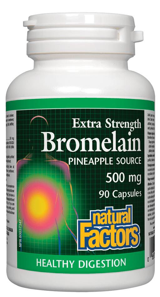 Natural Factors Bromelain 500mg 90 capsules | YourGoodHealth