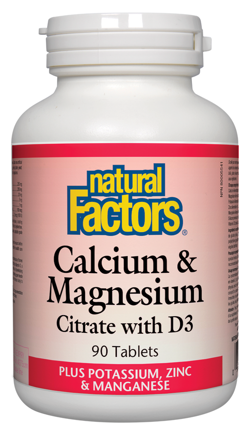 Natural Factors Calcium & Magnesium 90 tablets | YourGoodHealth