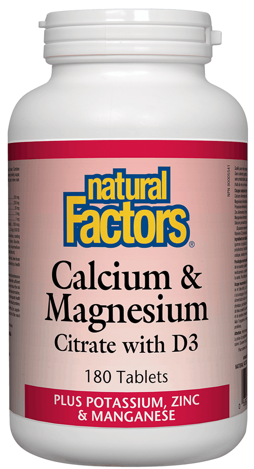 Natural Factors Calcium & Magnesium with D3 180 tablets | YourGoodHealth