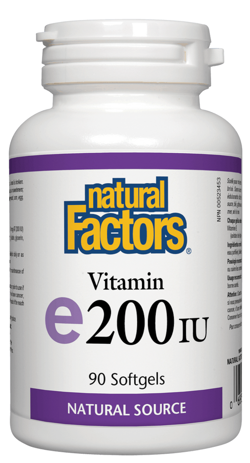 Natural Factors Vitamin E 200 IU | YourGoodHealth