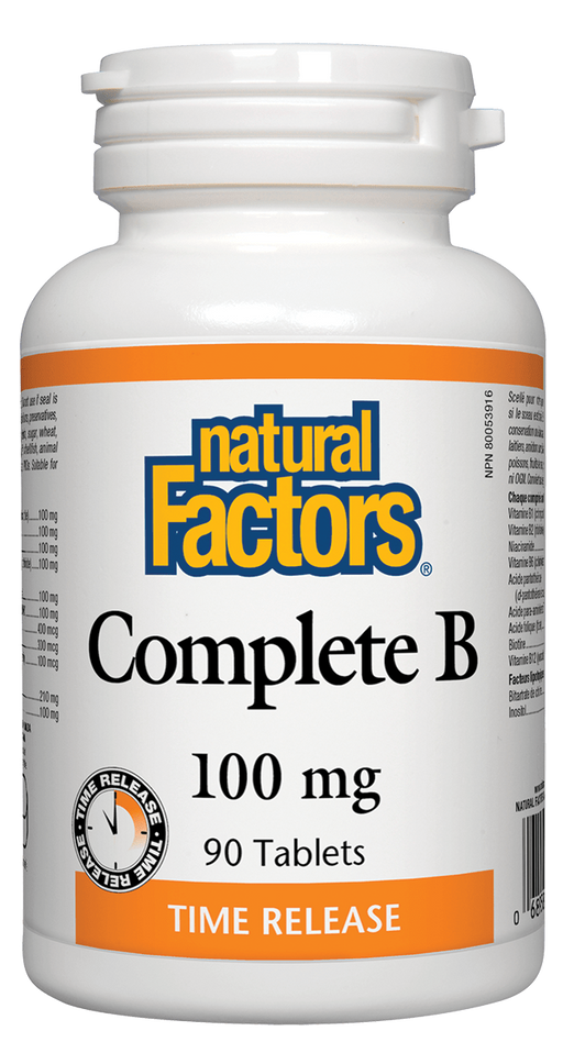 Natural Factors Complete B 100mg 90 tablets | YourGoodHealth