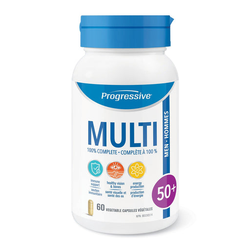 Progressive MultiVitamins Men 50+60 caps | YourGoodHealth