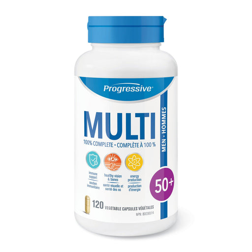 Progressive Mens 50+ MultiVitamins 120 caps | YourGoodHealth