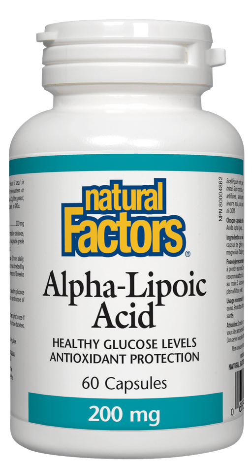 Natural Factors Alpha Lipoic Acid 200mg | YourGoodHealth