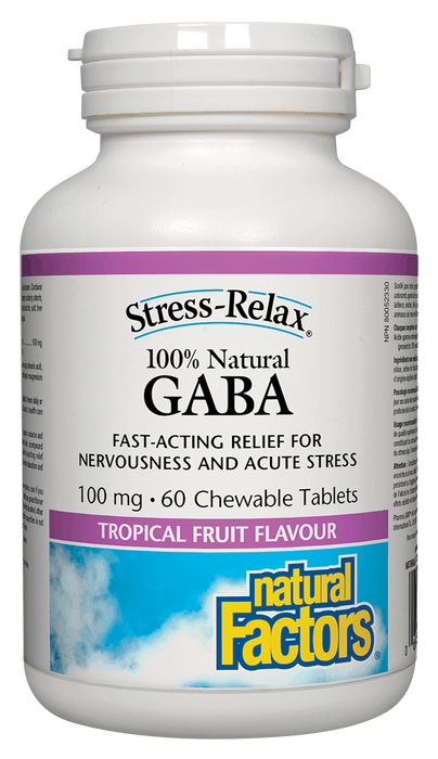 Natural Factors Gaba 100mg 60 Chewable | YourGoodHealth