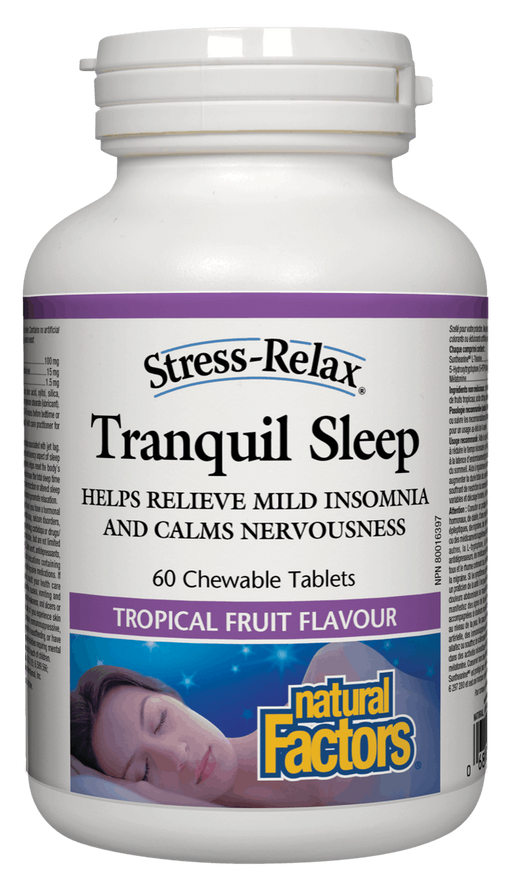 Natural Factors Chewable Tranquil Sleep 60 chewables | YourGoodHealth
