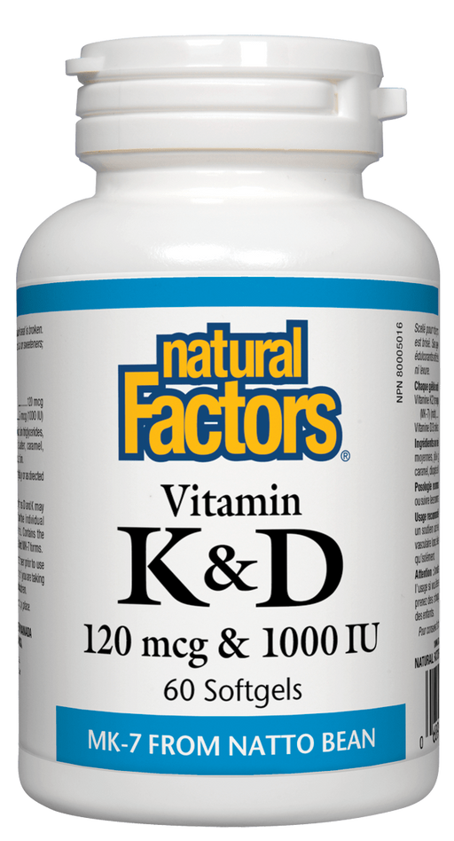 Natural Factors Vitamin K & D 60 capsules | YourGoodHealth