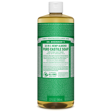 Dr Bronner Castill Soap Almond 32oz | Yourgoodhealth