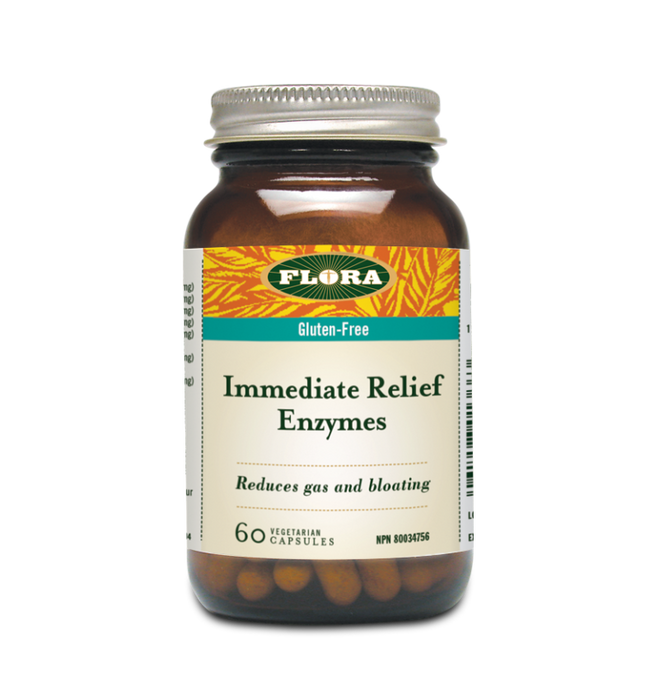 Flora Immediate Relief Enzyme 90Caps | YourGoodHealth