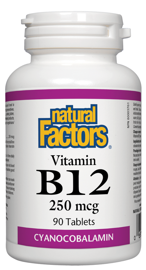 Natural Factors B12 250mcg | YourGoodHealth