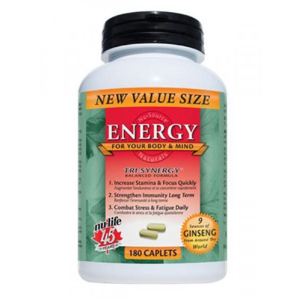 Nulife Energy 180 Caplets | YourGoodHealth