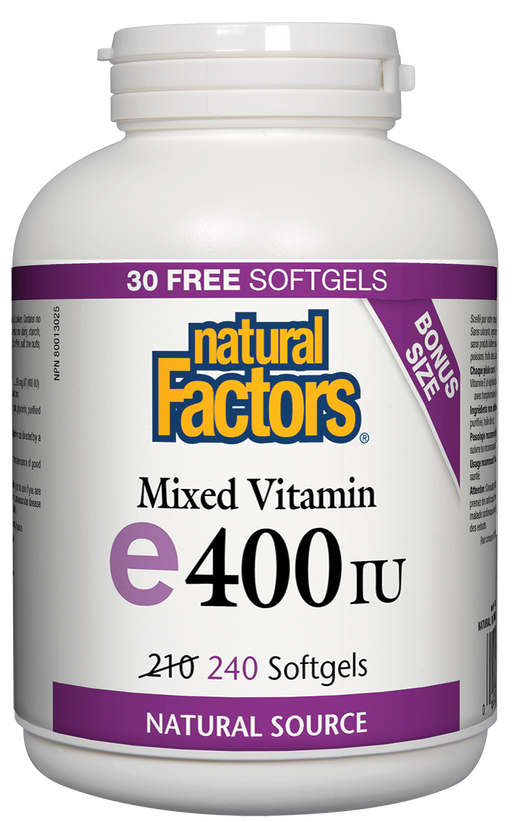 Natural Factors Mixed Vitamin E400 bonus | YourGoodHealth