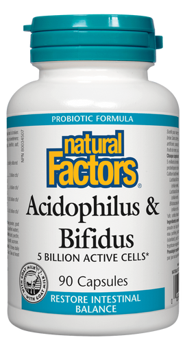 Natural Factors Acidophilus & Bifidus 90 capsules