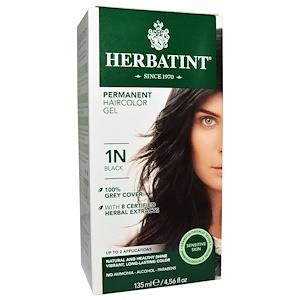 Herbatint Permanent Hair Colour 1N Black | YourGoodHealth