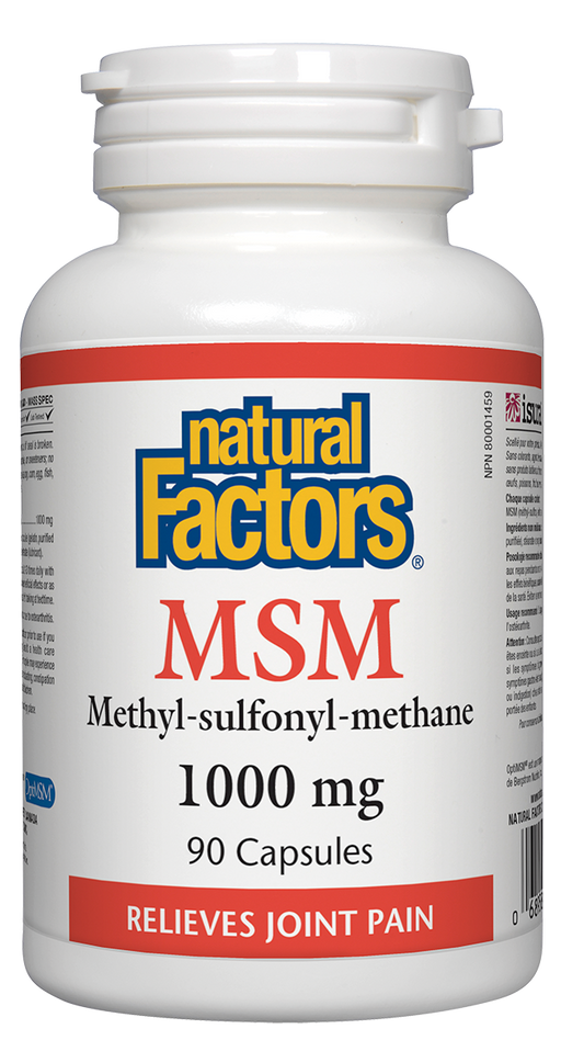 Natural Factors MSM 1000mg | Your Good Health
