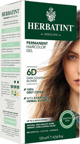 Herbatint Permanent Hair Colour 6D Dark Golden Blonde | YourGoodHealth