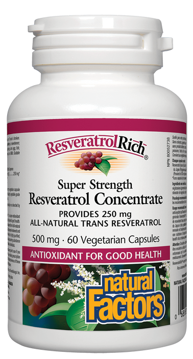 Natural Factors Resveratol 500mg | YourGoodHealth