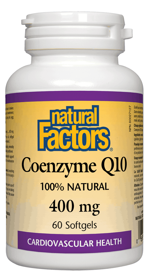 Natural Factors Coenzyme Q10 400 mg 60 capsules | YourGoo Health