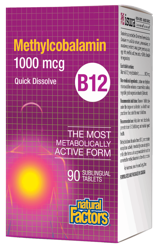 Natural Factors B12 Methylcobalamin 1000mcg 90 tabs | YourGoodHealth