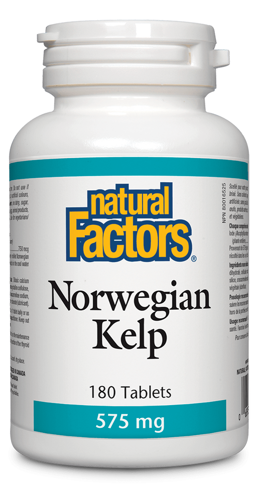 Natural Factors Norwegian Kelp 180 tabs | YourGoodHealth