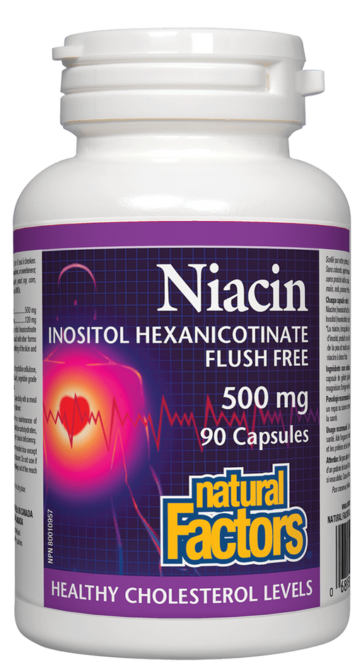 Natural Factors Niacin Inositol Hexanicotinate 500 mg
