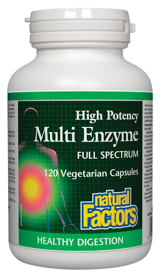 Natural Factors Multi Enzyme 120 capsules | YourGoodHealth