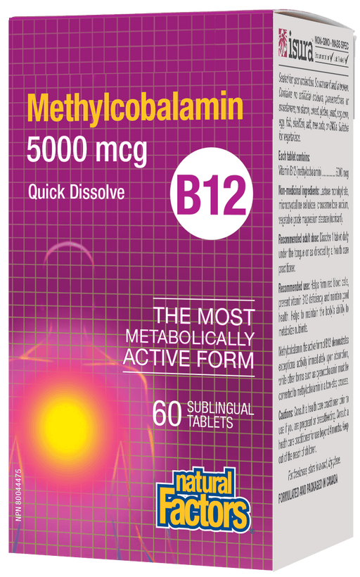 Natural Factors B12 5000 mcg | YourGoodHealth