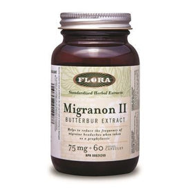 Flora™ Migranon ll Butterbur Extract 60 Capsules. Relief from Migraine Headaches