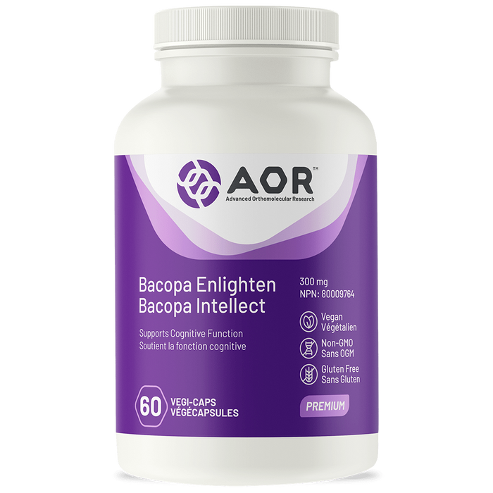 AOR Bacopa Enlighten 300mg 60capsules | YourGoodHealth