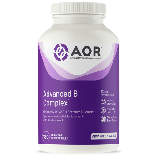 AOR Advanced B Complex 180 capsules | YourGoodHealth