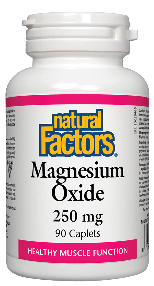 Natural Factors Magnesium Oxide 250mg | YourGoodHealth