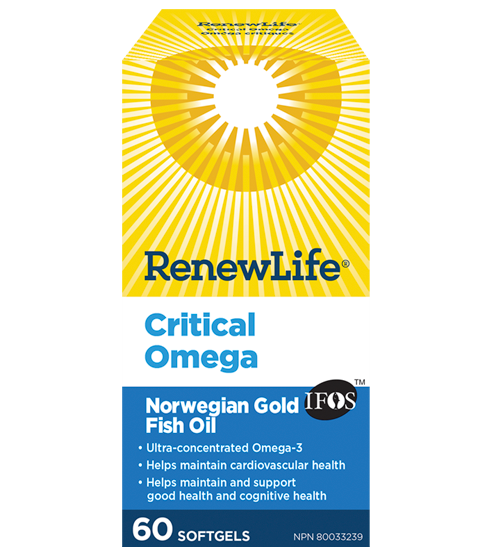 Renew Life Critical Omega 60 capsules | YourGoodHealth