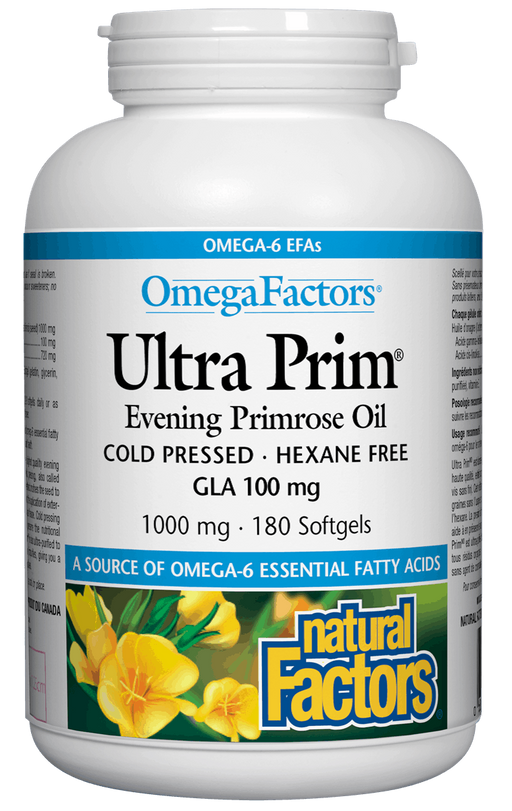 Natural Factors Evening Primrose Oil 1000mg 180 capsules | YourGoodHealth