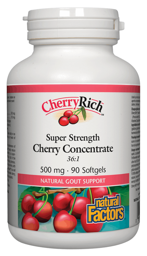 Natural Factors Cherry Concentrate 90 capsules | YourGoodHealth