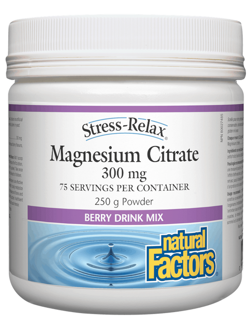 Natural Factors Magnesium Citrate Berry | YourGoodHealth