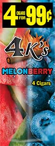 4 Kings Cigarillos Melonberry 15ct