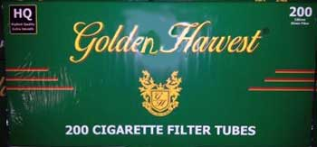 Golden Harvest Cigarette Tubes
