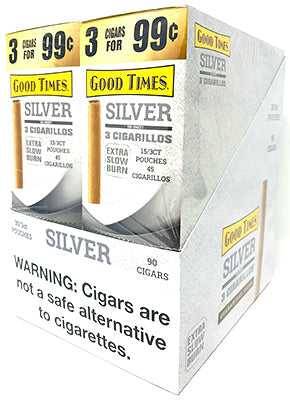 Good Times Cigarillos Silver 30-Count Box