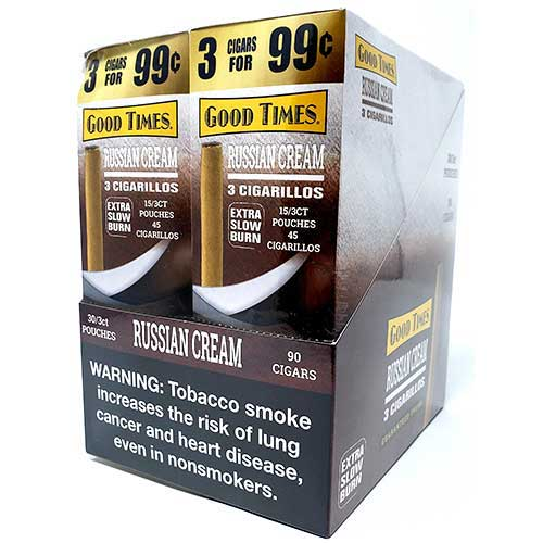 Good Times Cigarillos Russian Cream 30ct