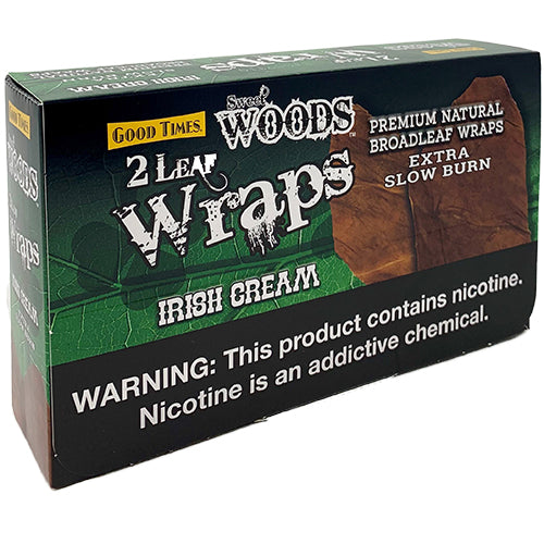 Good Times Sweet Woods Irish Cream Leaf Wraps 10ct