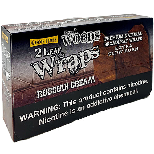 Good Times Sweet Woods Russian Cream Leaf Wraps 10ct