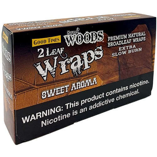 Good Times Sweet Woods Sweet Aroma Leaf Wraps 10ct