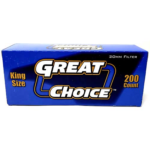 Great Choice Cigarette Tubes Smooth King Size