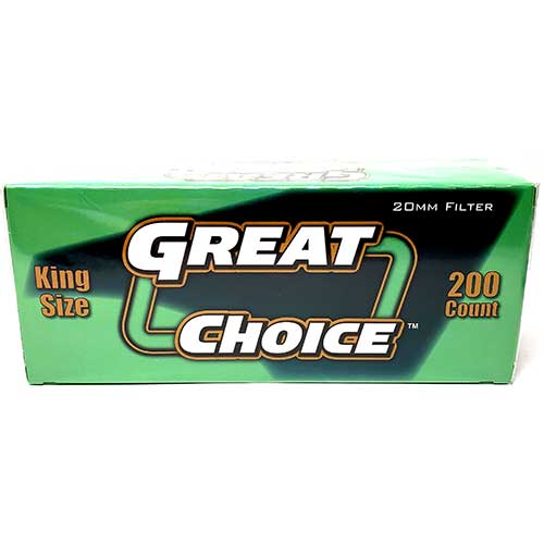 Great Choice Cigarette Tubes Menthol King Size