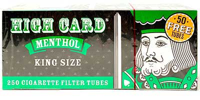 High Card Menthol King Size Cigarette Tubes 250ct